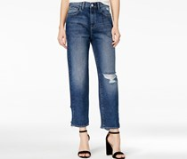 Frida Ripped Atlantic Wash Wide-Leg Jeans, Atlantic