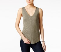 Maison Jules V-Neck Sleeveless Top, Dusty Olive