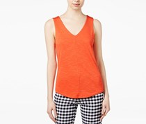 Maison Jules V-Neck Sleeveless Top, Tomato