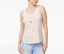 Maison Jules Cotton Popsicle-Print Tank Top, Bright White Combo