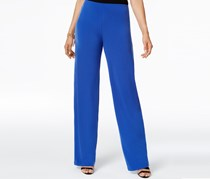 Alfani Petite Wide-Leg Knit Dress Pant, Bon Soir Blue