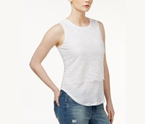 Maison Jules Lace Layered-Look Top, Bright White