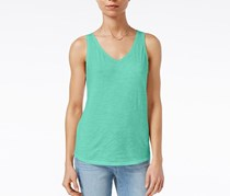 Maison Jules Cotton V-Neck Tank, Top Aqua Sky