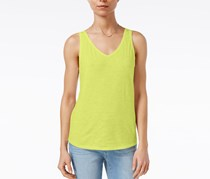 Maison Jules Cotton V-Neck Tank Top, Spring Daffodil