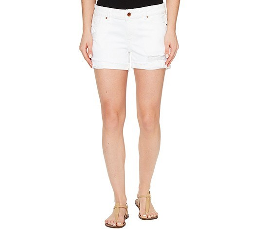 DL 1961 Karlie Cuffed Streamline Short, White