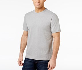 Club Room Men's Paxton Crew-Neck T-Shirt, Gray Heather