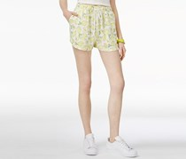 The Edit By Seventeen Juniors' Printed Drawstring Shorts, Lemon