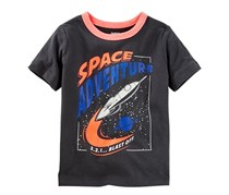Osh Kosh Toddlers Boys Originals Graphic Tee, Charcoal