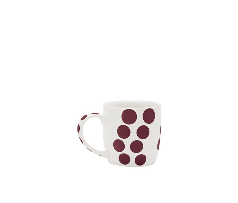 Chesnut Dot Porcelain Coffee Cup, White