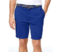 Club Room Men's Flat-Front Shorts, Lazulite