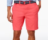 Club Room Men's Estate Flat-Front Shorts, Coral