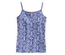 Girls' Tribal-Print Shelf Camisole,  Blue print