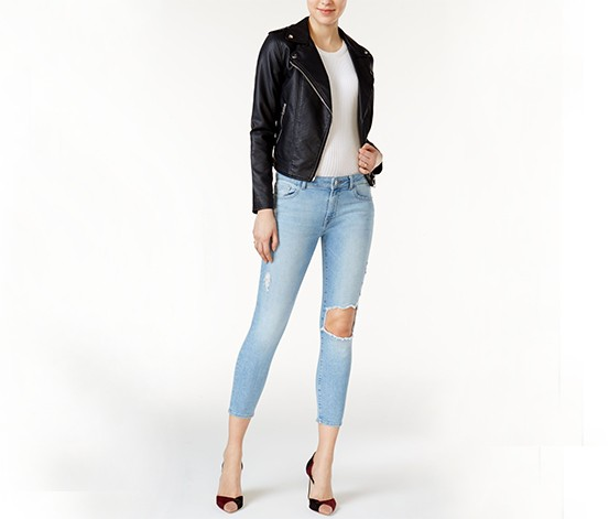 DL 1961 Florence Ripped Jeans, Wash Clifton