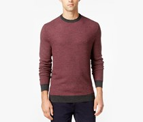 Club Room Men's Textured Crewneck Knit Sweater, Red