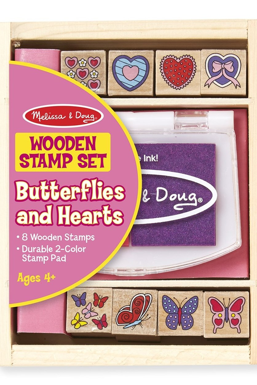 Melissa & Doug Butterly and Heart Wooden Stamp Set