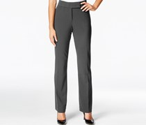JM Collection Petite Extend-Tab Curvy-Fit Pants, Deep Grey