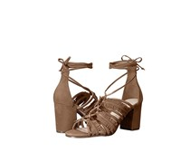 Nine West Women's Genie Suede Dress Sandal, Natural