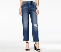 M1858  Frida Ripped Atlantic Wash Wide Jeans,  Atlantic