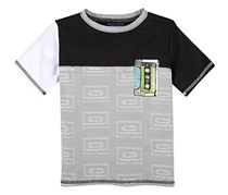 Andy & Evan Casette Pocket Tee, Grey/Black