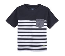 Andy & Evan Navy Pocket Tee, Navy/White
