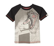 Andy & Evan Sneaker Tee, Black/Grey