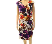 Ralph Lauren Floral print Faux wrap Dress,Multi Color
