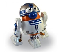 Hasbro Mr. Potato Head Star Wars R2D2 Action Figure, White/Brown/Blue