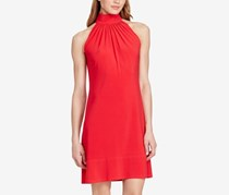 American Living Mock Neck Jersey Dress, Fire Coral