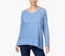 Style & Co. Women's High-Low Top, Carbon Blue