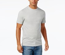Club Room Mens Patterned Cotton T-Shirt, Shade Slate