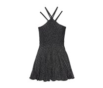 Sally Miller Kids Girls' Eve Dress, Black/Silver