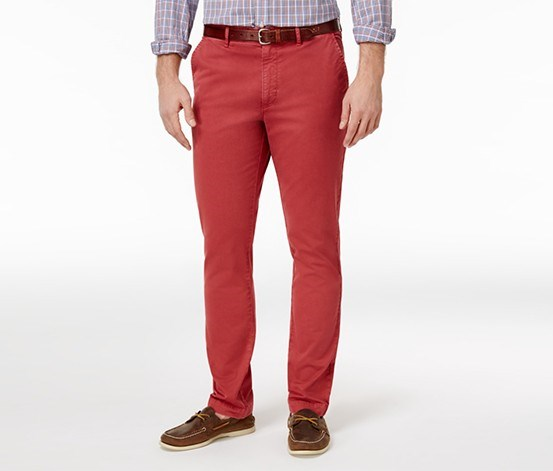 Mens Chinos Slim-fit Pants, Rosetta