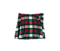 Carters Pleated Plaid Cotton Skirt, Red Plaid