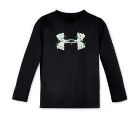 Under Armour Holiday Lights Graphic-Print T-Shirt, Black
