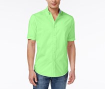 Club Room Mens Bancroft Poplin Shirt, Fresh Pistachio