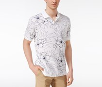 Club Room Men's Hibiscus Sketch Cotton Polo, White