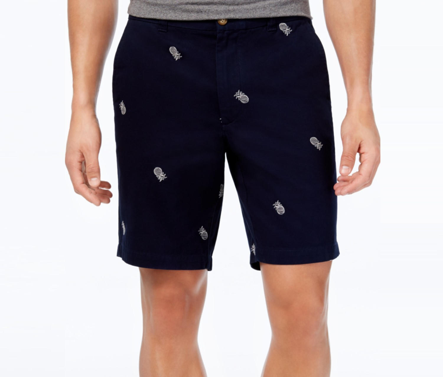 Mens Embroidered Pineapple, Conavy Blue