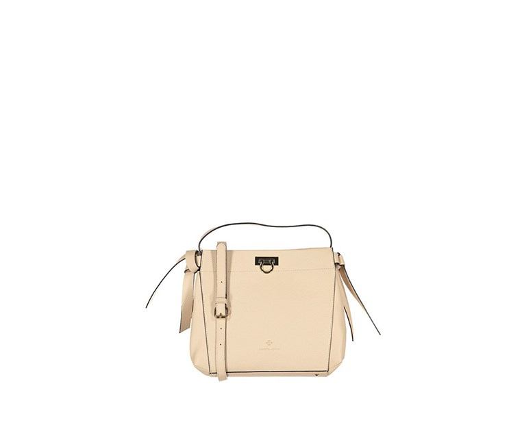 Textured Shoulder Bag, Oatmeal