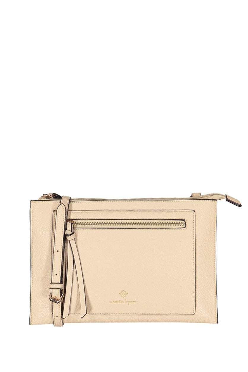 Solid Crossbody Bag, Oatmeal