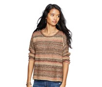 Ralph Lauren Striped Crewneck Sweater, Brown
