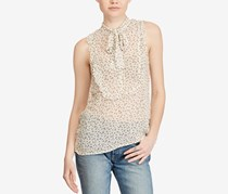 Women  Ruffled Top Wind Chime Floral Top, Cream Combo