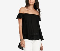 Ralph Lauren Crepe Off-The-Shoulder Top, Black