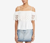 Denim Supply Ralph Lauren Off-The-Shoulder Gauze Top, White