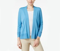 Charter Club Open-Front Cardigan, Smokey Sky