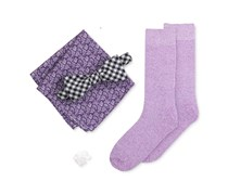 Four in Hand Spade Bow Tie Box Set, Purple