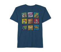 Nickelodeon Men's Graphic-Print T-Shirt, Blue
