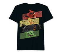 Angry Birds Little Boys' Angry Group T-Shirt, Black/Turquoise