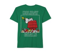 Toddlers Holiday Goals Snoopy & Woodstock T-Shirt, Green
