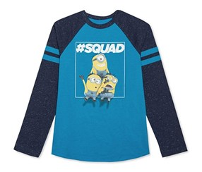 Kid Boys Minions Long-Sleeve Top, Methyl Blue