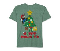Nintendo Mario Happy Holidays T-Shirt, Green